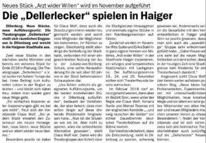 Artikel im Dillenburger Wochenblatt